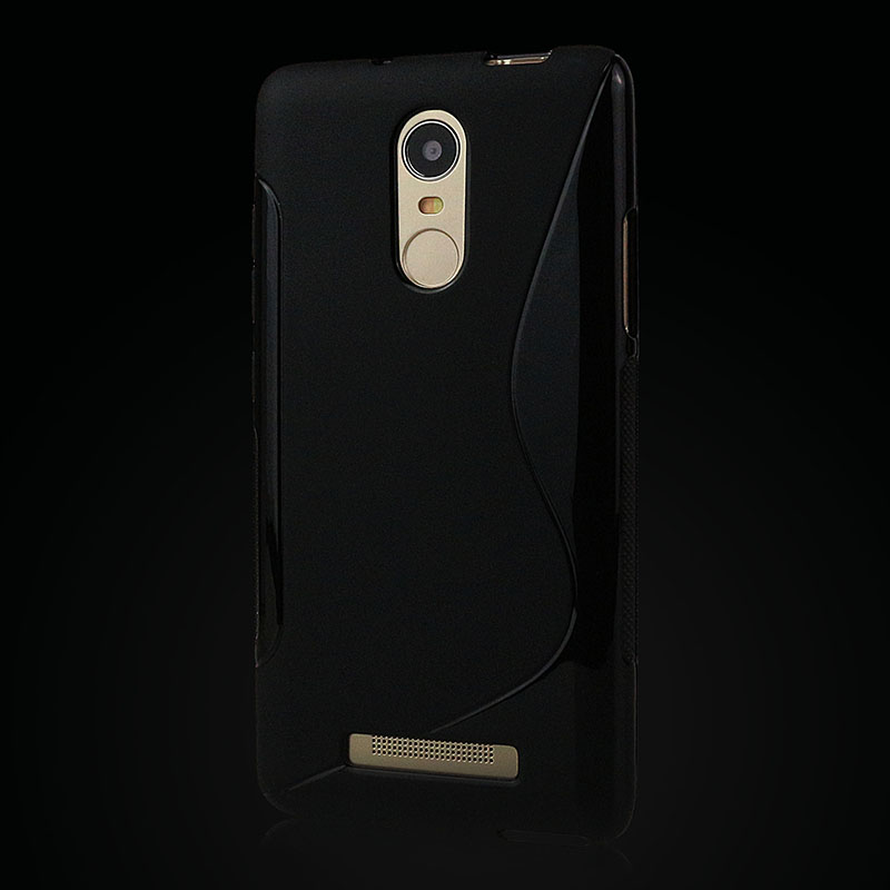S lines Xiaomi Redmi Note 3 Case High Quality Matte Silicone TPU Protector Case Back Cover