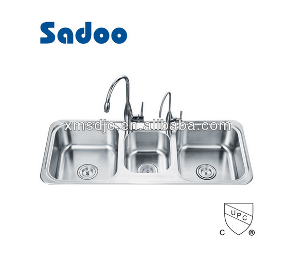 Triple Bowl Kitchen Sinks Triple Bowl Kitchen Sinks Suppliers And Manufacturers At Alibaba Com