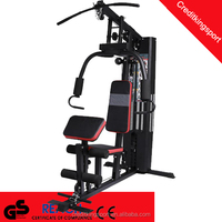 sitting butter-fly combo weight bench ab crunch one station home gym