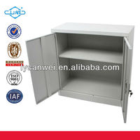 new style half height metal storage 2 door lockable cabinet
