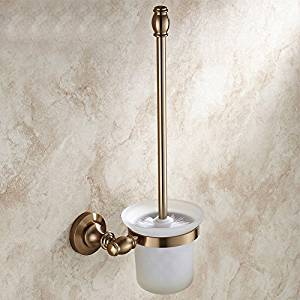 Space aluminum brushed antique bronze toilet brush holder with Cup set,toilet brushes,toilet brushes,toilet brush holder,toilet brush set