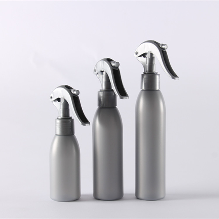 150ml, 200ml, 250ml empty injection silver color PET spraying bottle