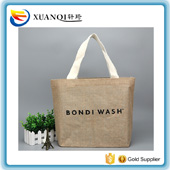 New style high quality blue canvas tote shopping bag rope handle canvas tote bag