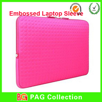 Neoprene Surface Embossed pattern Soft tablet Sleeves for ipad mini