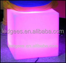 40cm plastic led cube chair cubo llevado silla indoor and outdoor