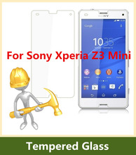 2.5D Arc Edge 9H Hardness Tempered Glass For Sony Xperia Z3mini Screen Protector Explosion-Proof Film for Xperia Z3 Compact M55W