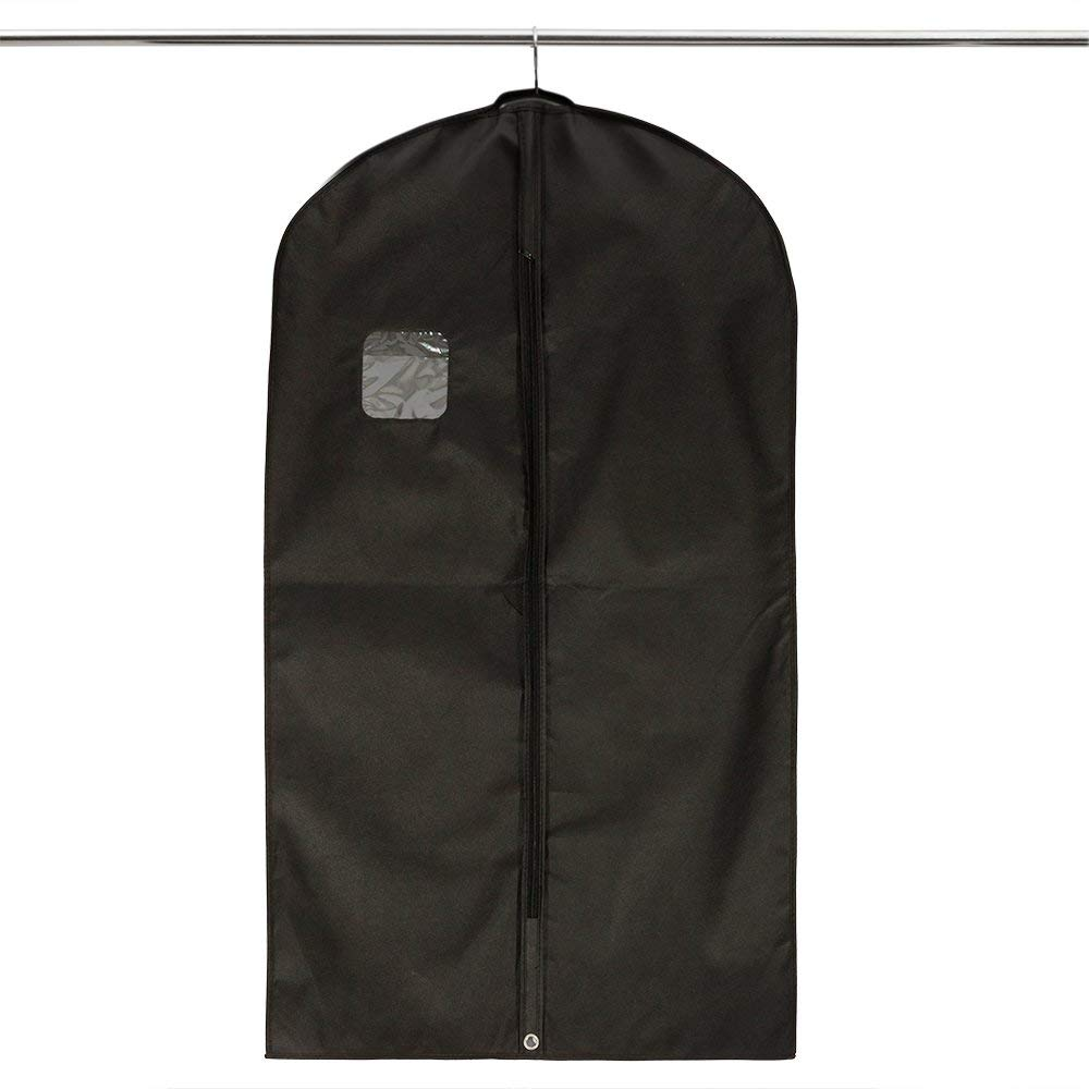 Storage Usage and Non woven pvc or customized Material wholesale non woven zipper garment bag