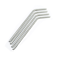 Food Grade 304 Stainless Steel Drinking Straws, Set of 4, Free Cleaning Brush Included
