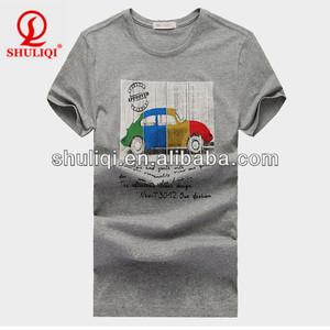 2014 China Wholesale Car Printing Men T Shirt