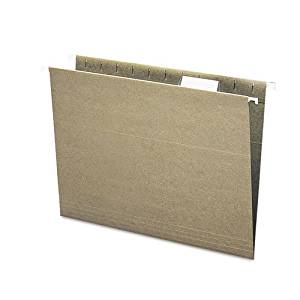 Smead : Recycled Hanging File Folders, 1/5 Tab, 11 Point Stock, Letter, Green, 25/Box -:- Sold as 2 Packs of - 25 - / - Total of 50 Each