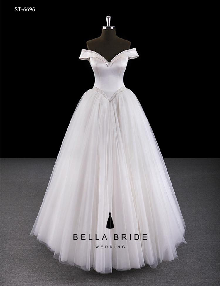 Simple Elegant Wedding Dresses Beaded Princess Ball Gown Wedding ...