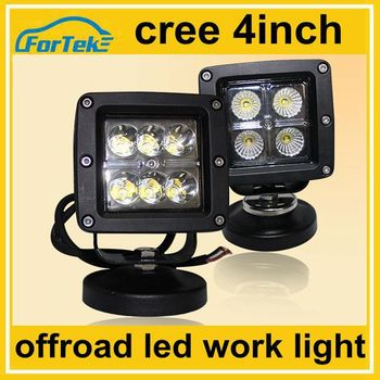 12v 24v 4 Inch Square Cree Led Work Light For Car Fog Lamp 16w