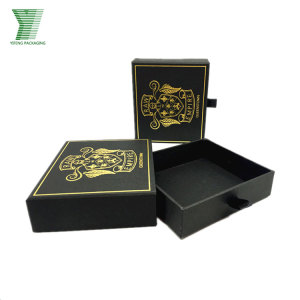 Custom Belt Black Cardboard Sliding Gift Box Wallet Boxes