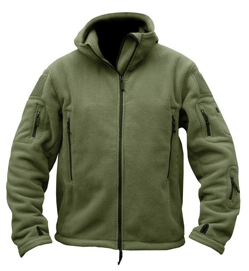 US-Military-Fleece-Tactical-Jacket-Men-Thermal-Outdoors-Polartec-Sport-Hooded-Coat-Militar-Softshell-Hike-Outdoor