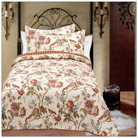 Wholesale 3pzs advanced dyeing and printing process quilted king size bed spread