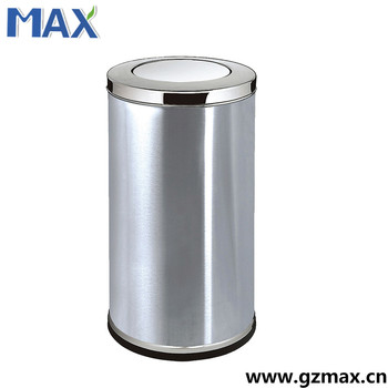 Indoor Stainless Steel Office Trash Can Images With Swing Lid
