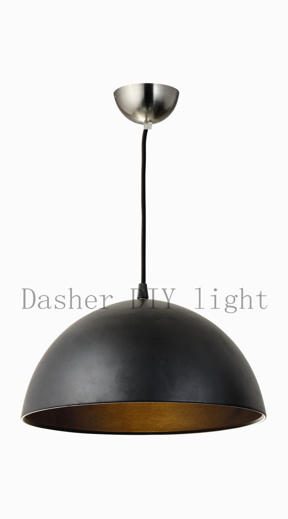 decorative vintage industrial hanging lamp black or brass color