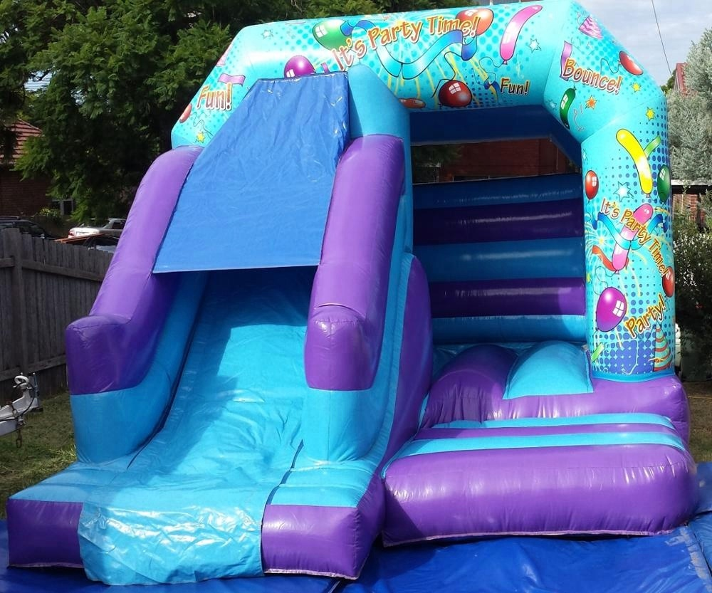 HOLA blue inflatable bouncer/moon bounce for sale