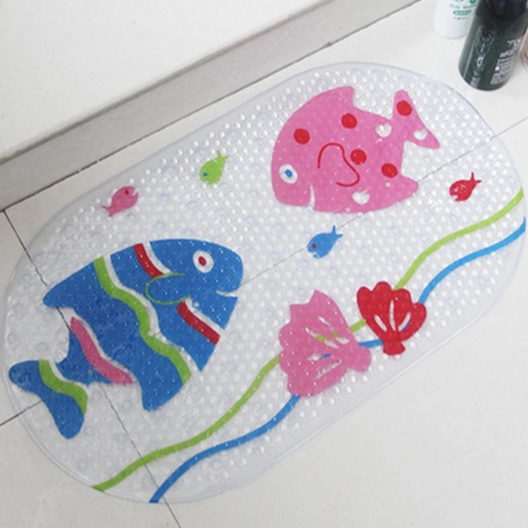 Cartoon Pattern Cartoon Shower Mat PVC Rubber Bath Tub Non-slip Bath Mat