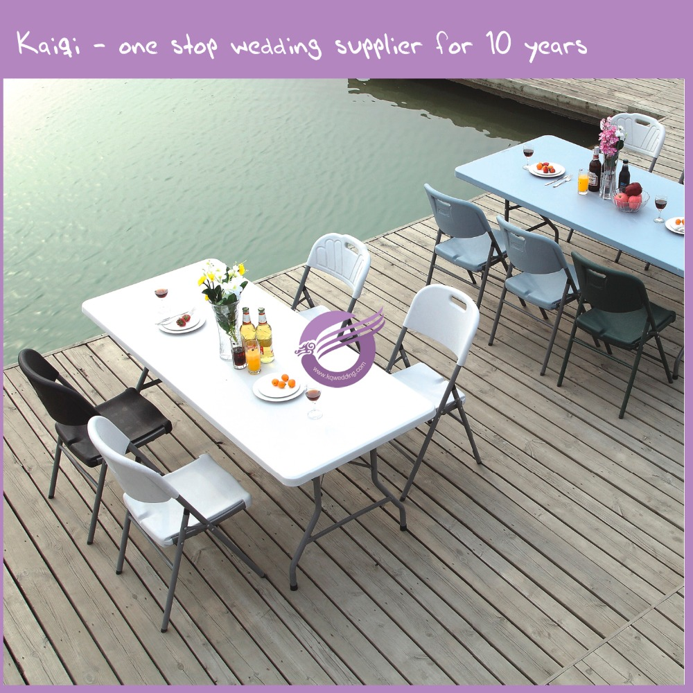 k5040 cheap plastic rectangle round folding table top
