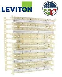 Leviton 41AW2-300 GigaMax 5e 110-Style Wall Mount Wiring Block w/ legs 300-Pair (Pkg of 5)