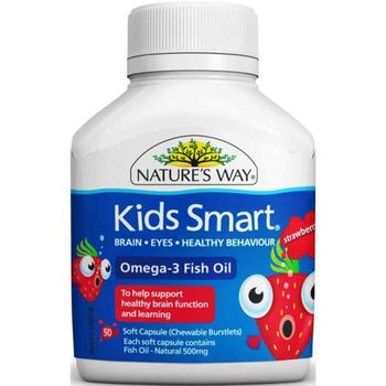 Nature 39 s way kids smart omega 3 fish oil strawberry 50 for Purpose of fish oil