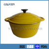 Cast Iron Round Metal Korean Enamel High Pot Kitchenware Cookware