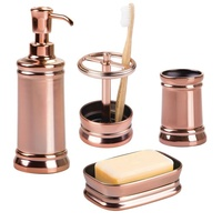 China Manufacturer Supplier Home Bathroom Fittings Accessories Toilet Countertops Decor Rose Gold Plated Bath Accessory Set