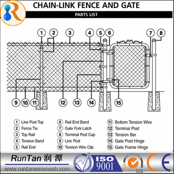 Decorative chain link fence removable garden buy