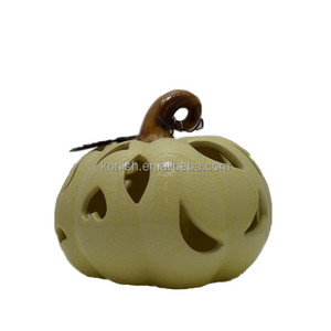 Porcelain Decorative Figurines Ceramic Pumpkin for Thanksgiving Gift