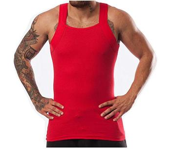 ded1151a4c048 Custom Men's G-unit Style Tank Tops Square Cut Muscle High Elastic Rib A-