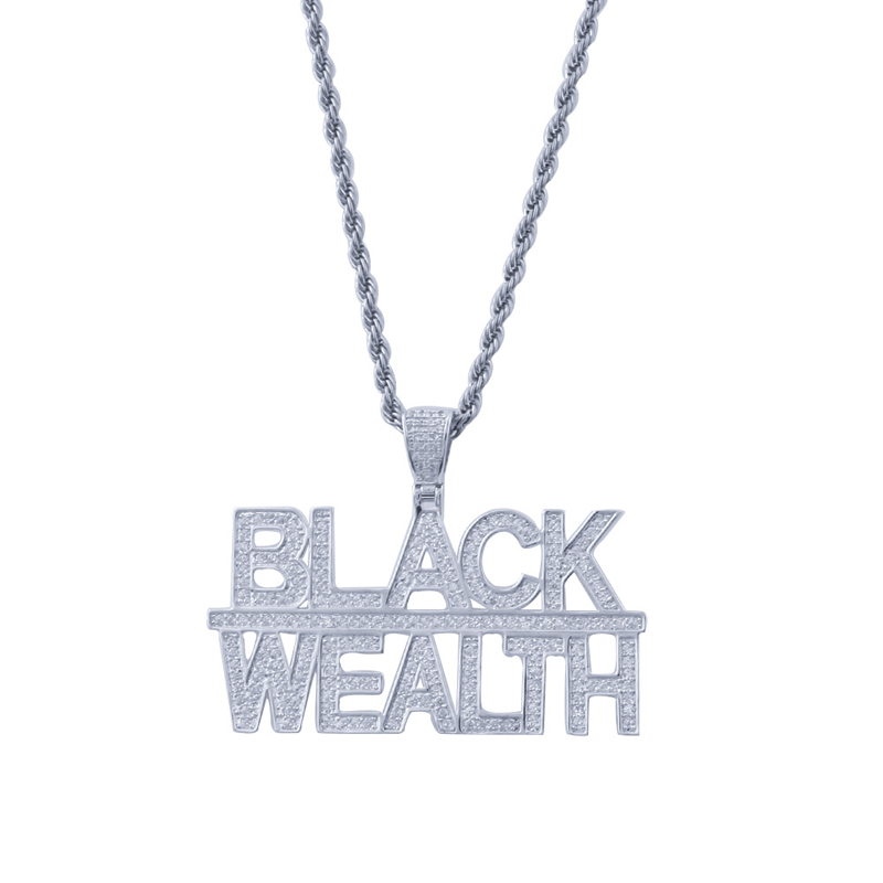Custom HipHop Full Iced Out Cubic Zirconia Black Wealth <strong>pendant</strong>