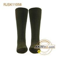 XL Olive Drab US Army Type Mid Calf Boot Socks Cotton Mens Shoe 10-14 USA
