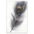 Peacock feather restaurant decoration Painting Black And White Feather Wall Art