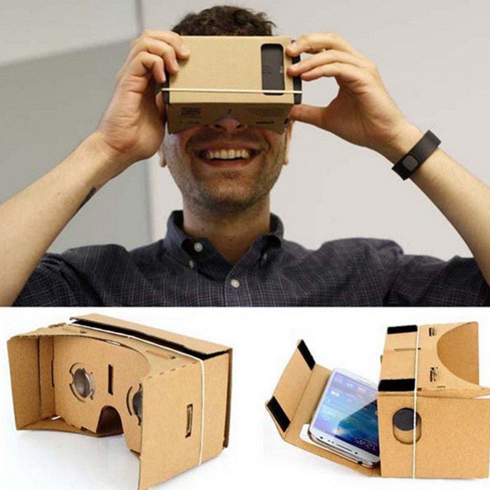 Virtual Reality Glasses,Hongxin DIY Cardboard 3D VR Glasses Paper Virtual Reality Goggles 3D Glasses Smartphone Helmet Headset Lens A3 For Google