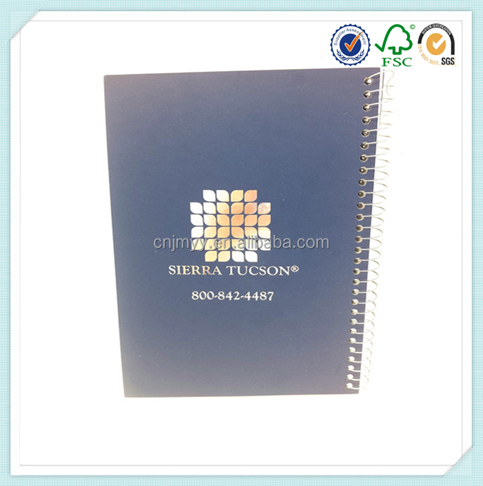 Silver Stamping Perforated Thick Wire Bound Notebook A5