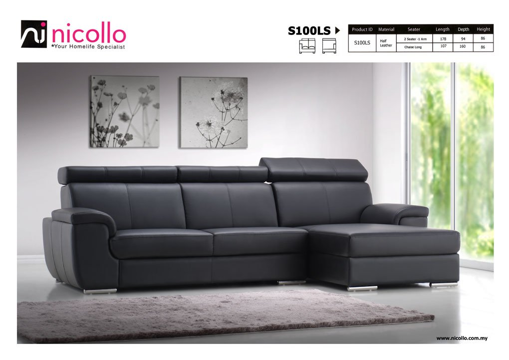 Modern Sofa Leather Sprint TheSofa