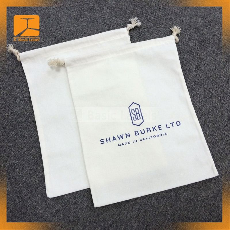 customized large size drawstring cotton dust bag for handbag cover