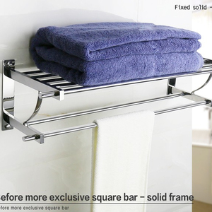Chaoan bathroom accessories stainless steel hotel outdoor towel rack & shelf.