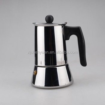 Stainless Steel Stove Top Coffee Maker For Electric And Induction Cooker