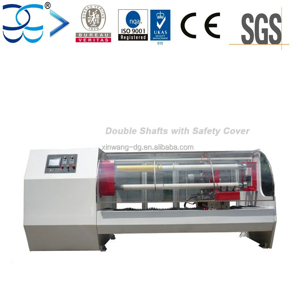 XW704F Double Tubes Automatic Cutting Machine With Safety Shield