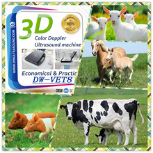 DAWEI DW-VET8 horse, pig, sheep goat, cow, cattle farm use Factory hotsale low price veterinary color doppler ultrasound
