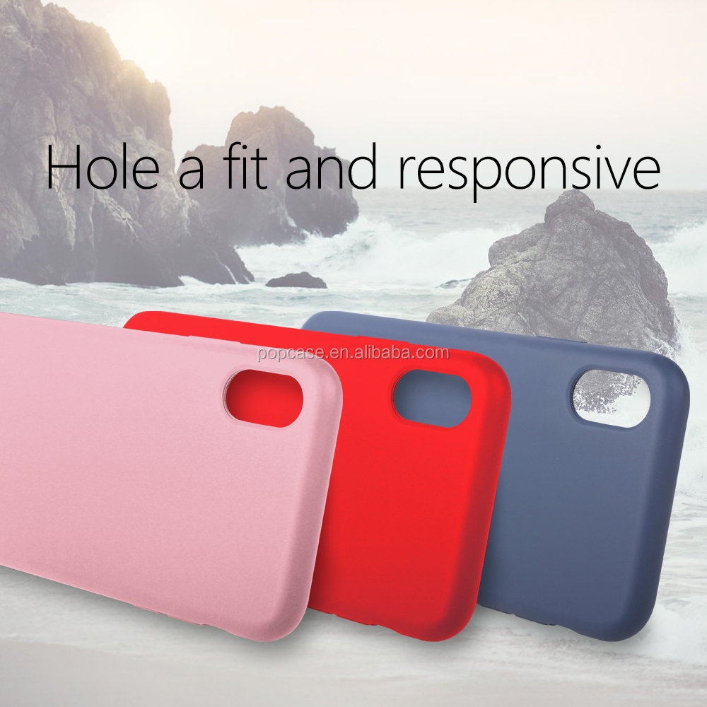 Hottest Silky Smooth Liquid Silicone Rubber phone case with Soft Microfiber Cushion for iphone 8, 8 plusa and X