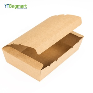 YTBagmart Hot Craft Paper Lunch Food Packing Box Folding Food Delivery Box