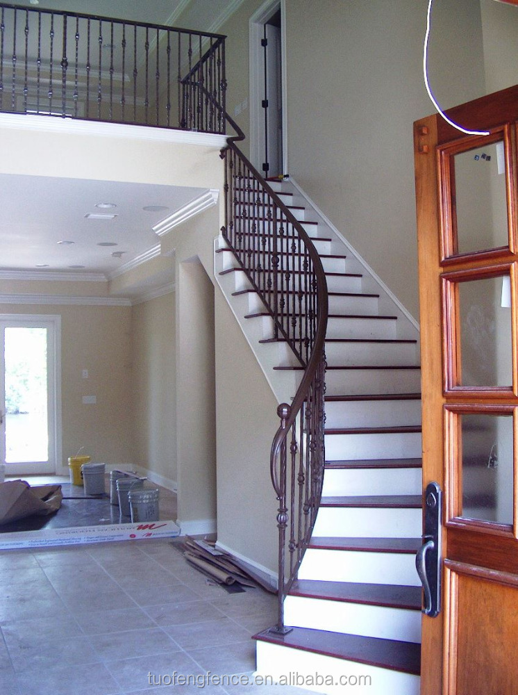 ornamental easily install antique iron stair railings