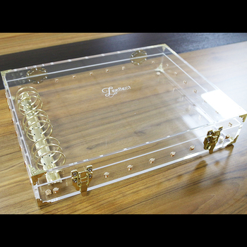 Contemporary Twist Clear Acrylic Steamer Trunk Acrylic And Brass Box