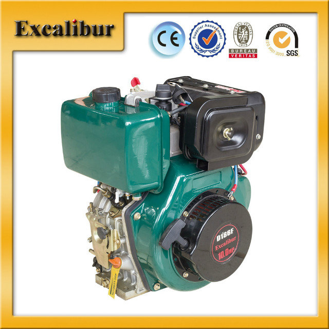 10HP air cooled lightweight diesel engine with 5.5 L fuel tank