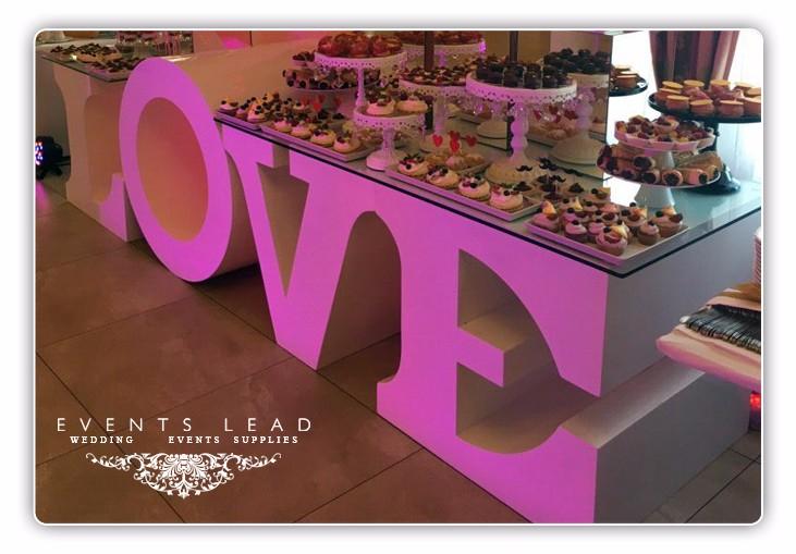 love letter wedding table base wood