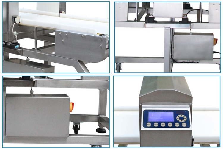 FDA food grade belt conveyor type food metal detector