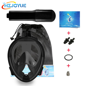 Anti-fog Easy Breath Panoramic Snorkel Mask 180 Degree Full Face action Foldable Swimming Diving Mask for Adults and Kids
